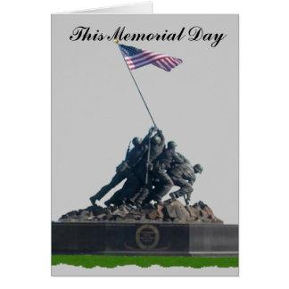 Cartão Este Memorial Day