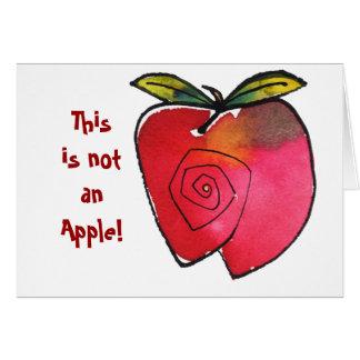 Cartão Este não é Apple Notecard