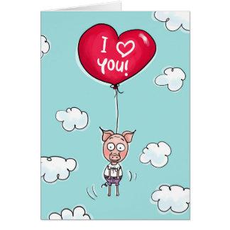 Cartão Este porco ama-o