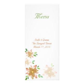 Cartão estilizado da cremalheira do menu do
