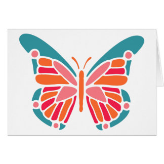 Cartão estilizado do costume da borboleta