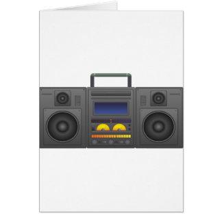Cartão estilo Boombox de Hip Hop dos anos 80
