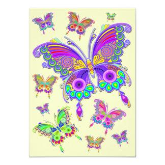 Cartão Estilo colorido do tatuagem da borboleta
