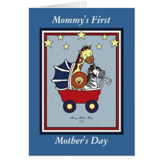 Cartão Estilo da americana do dia de mãe da mamã primeiro