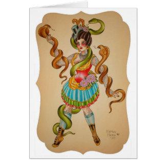 Cartão Estilo da cobra