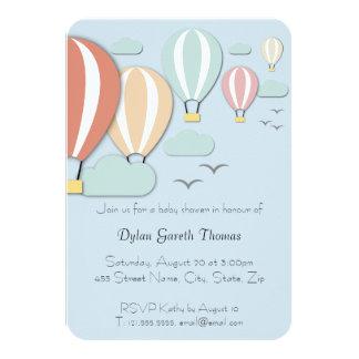 Cartão Estilo de Papercut do balão de ar quente