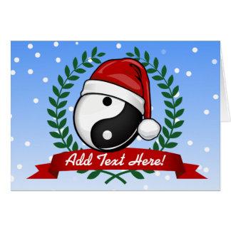 Cartão Estilo do feriado do símbolo de Yin Yang