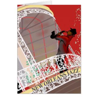 Cartão ESTILO do JAZZ de NOVA ORLEÃES por Slipperywindow
