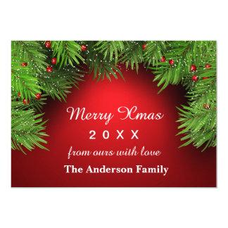 Cartão Estilo elegante da bola do Natal