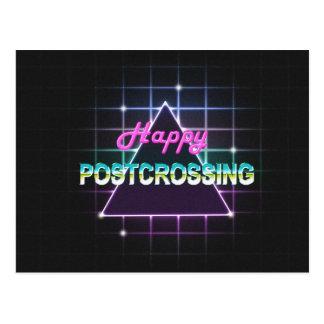 """Cartão """"estilo feliz de Postcrossing 80s """""""