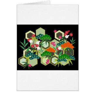 Cartão Estilo japonês de Japão do dia do ano novo