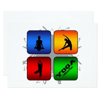 Cartão Estilo urbano da ioga surpreendente
