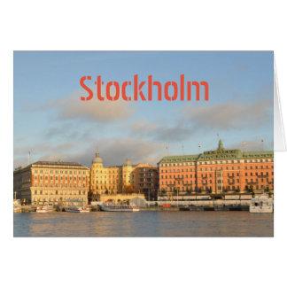 Cartão Éstocolmo, suecia