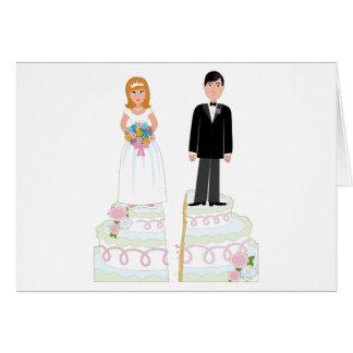 Cartão Estoque do bolo do divórcio