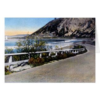 Cartão Estrada 1930 da costa de Santa Barbara Califórnia