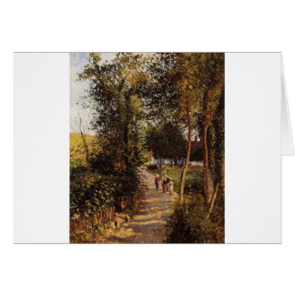 Cartão Estrada a Berneval-le-Pequeno por Camille Pissarro