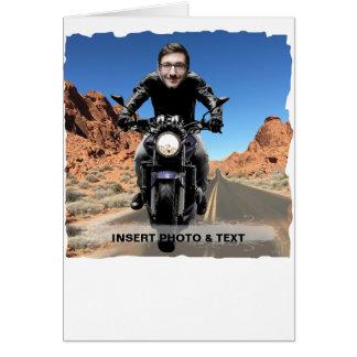 Cartão Estrada da motocicleta do motociclista - introduza