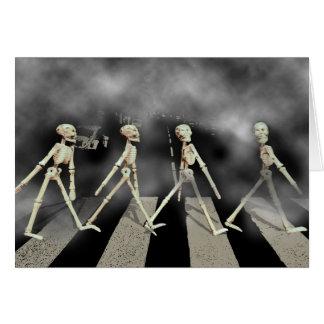 Cartão Estrada de esqueleto