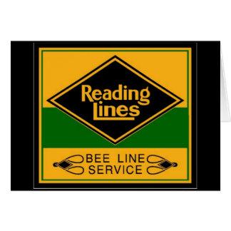 Cartão Estrada de ferro da leitura, linha serviço da