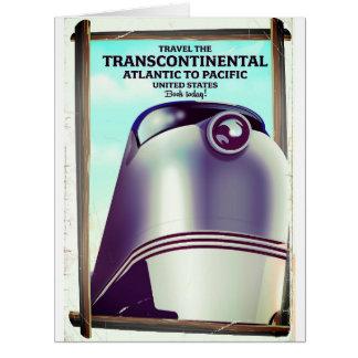 Cartão Estrada de ferro Transcontinental EUA