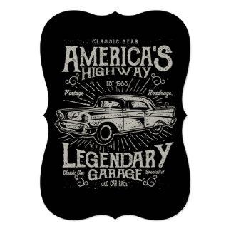 Cartão Estrada do carro | Hotrod americano clássico do