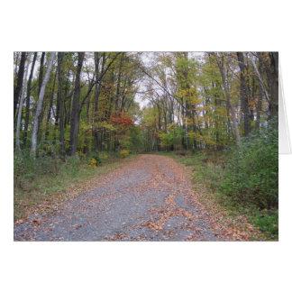 Cartão Estrada do outono