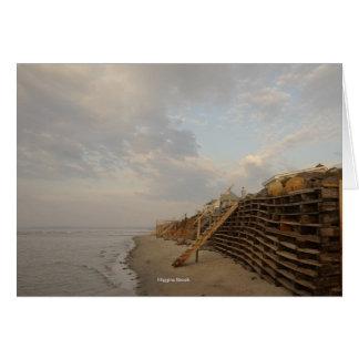 Cartão Estrada do Shipwreck da maré alta da praia de