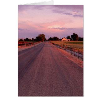 Cartão Estrada secundária de Idaho