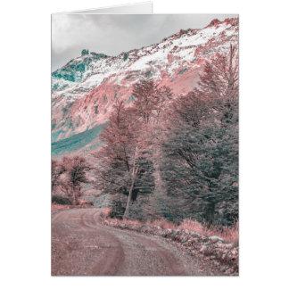 Cartão Estrada vazia do cascalho - Parque Nacional Los