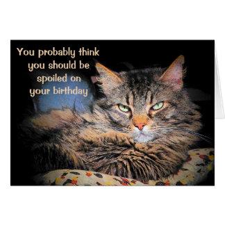 Cartão Estragado em seu aniversário?  Pense que você é um