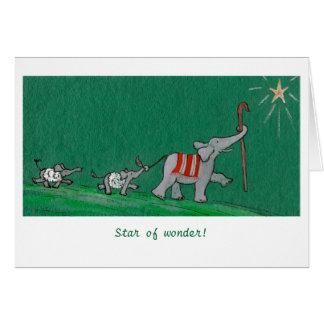 Cartão Estrela da maravilha!