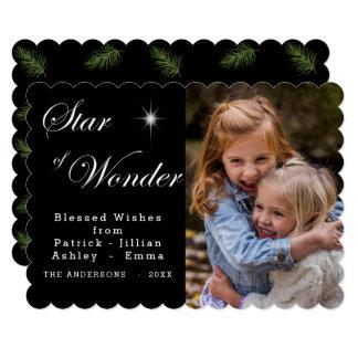 Cartão Estrela de Bethlehem do preto gótico da maravilha