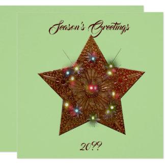 Cartão Estrela de cobre velha do povoado indígeno