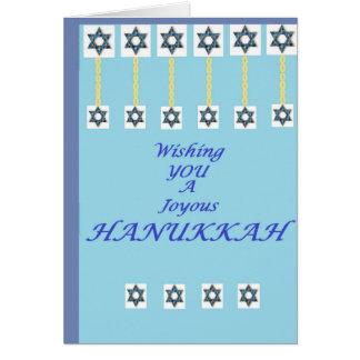 Cartão Estrela de David de Hanukkah