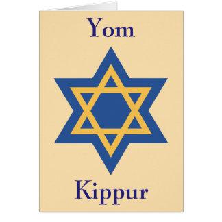 Cartão Estrela de David Yom Kipur