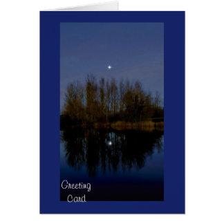 Cartão Estrela de noite