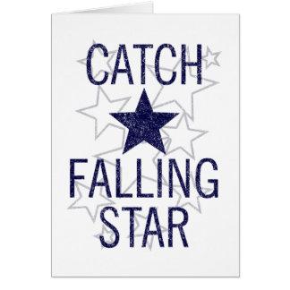 Cartão estrela de queda da captura