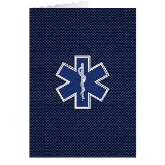 Cartão Estrela de serviços médicos da emergência do