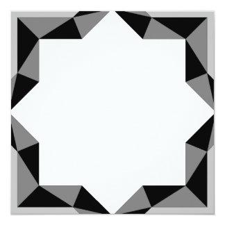 Cartão Estrela do art deco