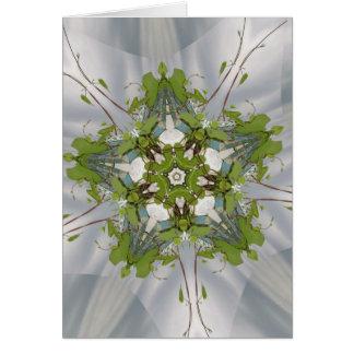 Cartão Estrela do caleidoscópio da hera do Natal