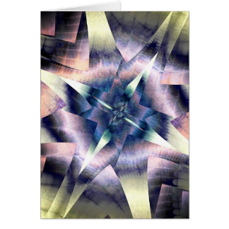 Cartão estrela do deco