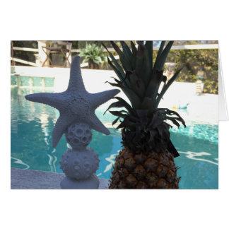 Cartão Estrela do mar do abacaxi