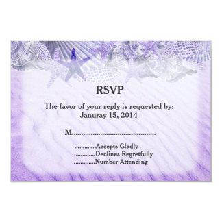Cartão Estrela do mar do Seashell que wedding RSVP