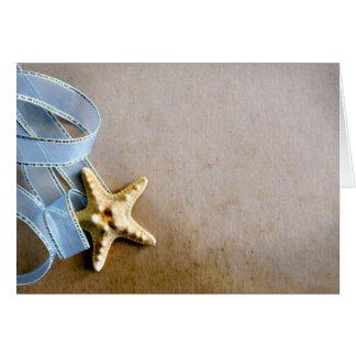 Cartão Estrela do mar e fita azul