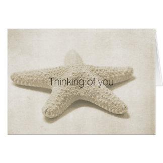 Cartão Estrela do mar personalizada