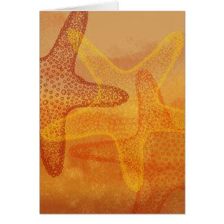 Cartão Estrela do mar três