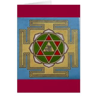 Cartão estrela do merkabah