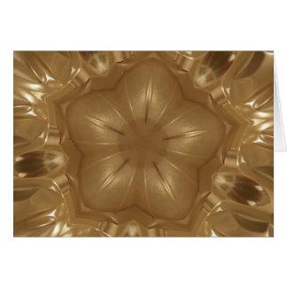 Cartão Estrela elegante do caleidoscópio do Natal de