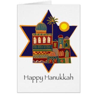 Cartão Estrela feliz de Hanukkah