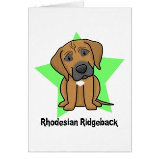 Cartão Estrela Rhodesian Ridgeback de Kawaii